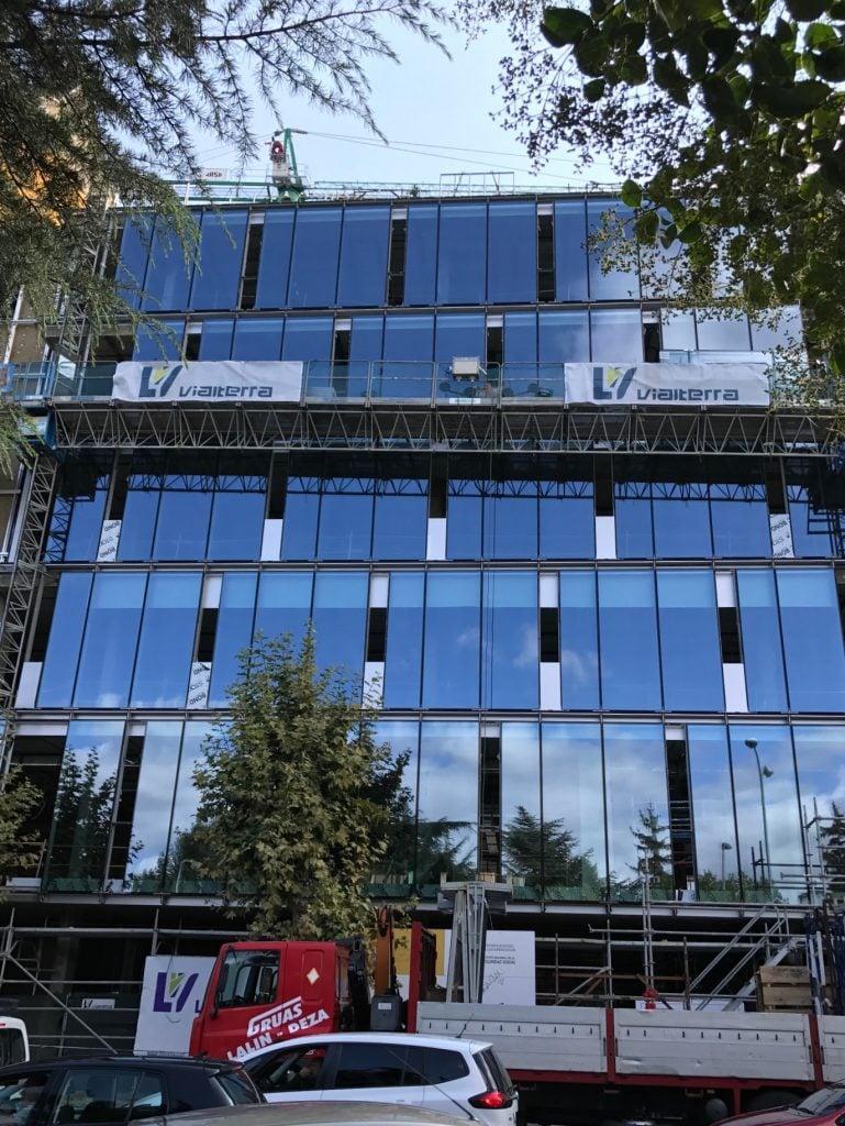 Obras de construcci n del edificio sede de la direcci n for Oficinas solvia madrid
