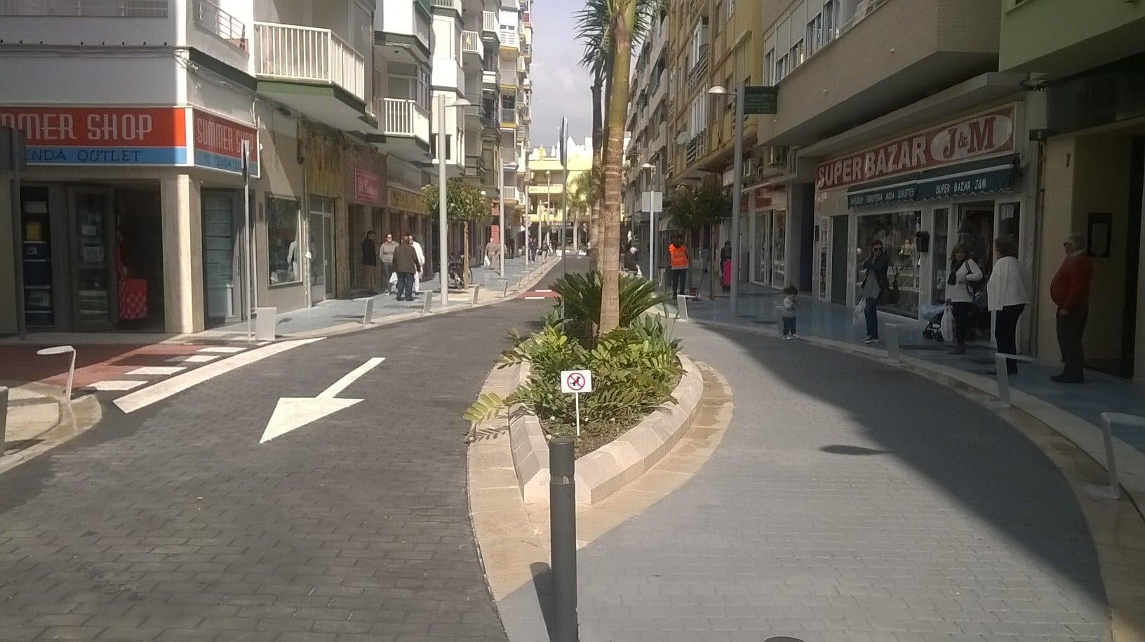 Peatonalización Calle Princesa en Torre del Mar, Málaga