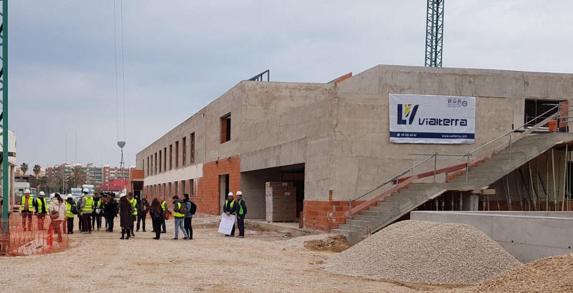 Visita de las autoridades de Valencia a las obras del CEIP 103 de Valencia