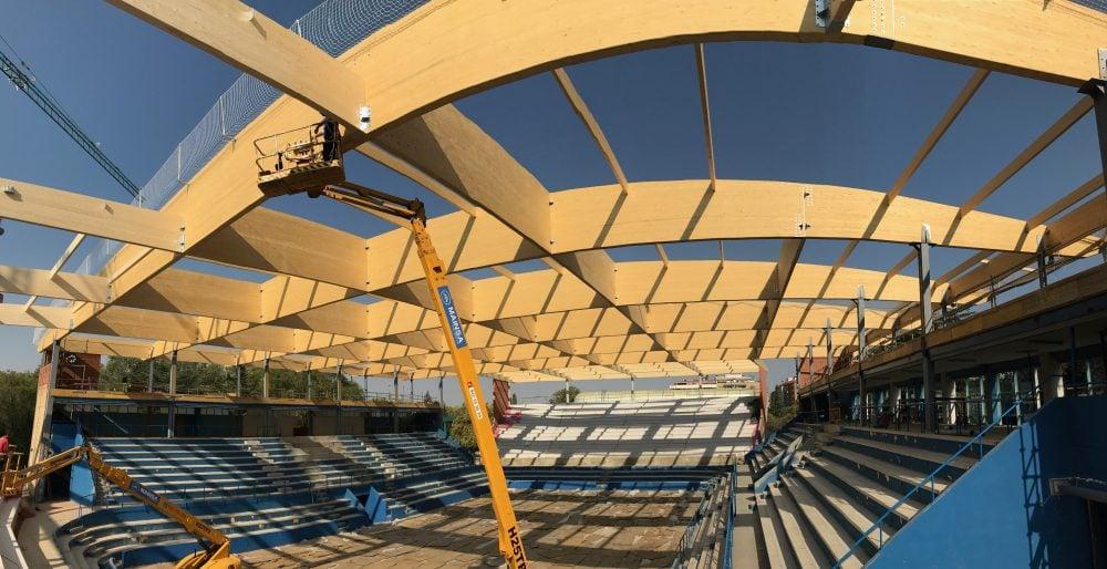 Vialterra Infraestructuras ejecuta la estructura de madera laminada más importante de Castilla y León