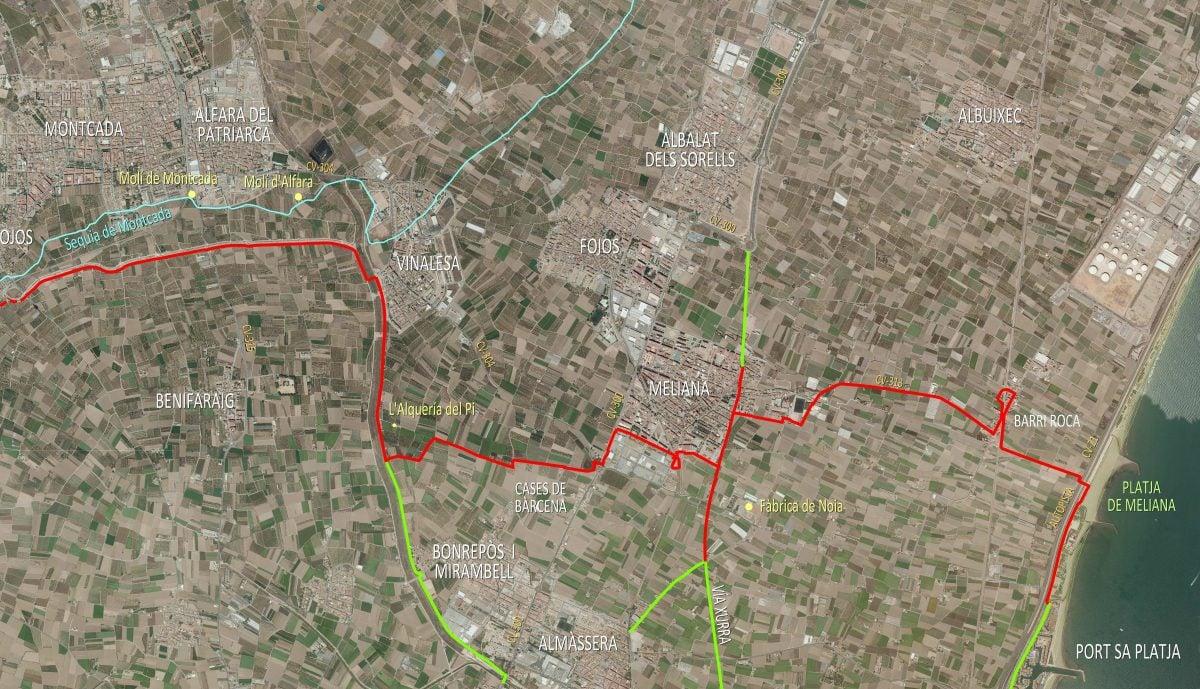 Anillo Verde Metropolitano de Valencia. Tramo 6 Norte