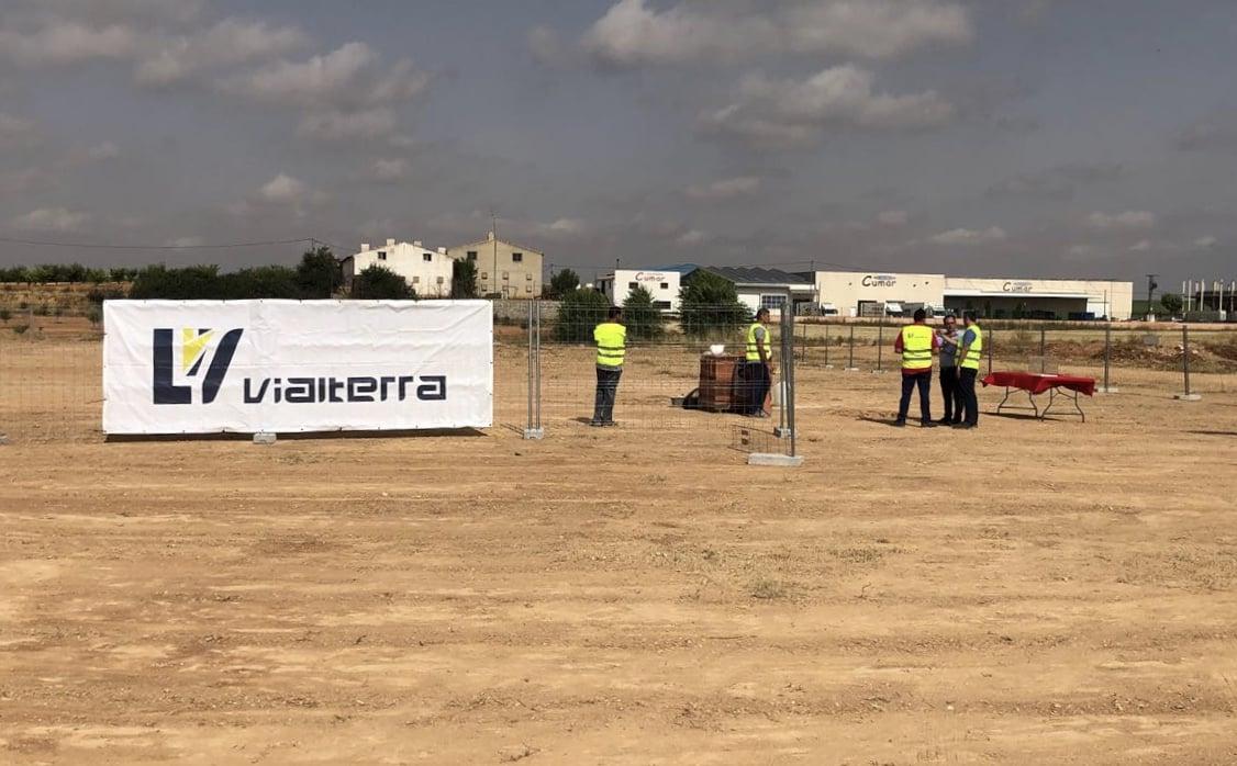 Primera piedra de las obras del nuevo CEIP de Villamalea en Albacete
